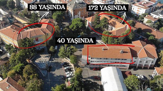 Depremde Üsküdar'da 40 yıllık bina hasar gördü 172 yıllık tarihi okul sağlam