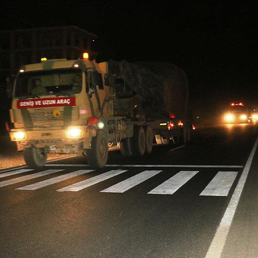 Şanlıurfa'da Suriye sınırına askeri sevkiyat: TSK tarafından askeri birliklere malzeme takviyesi yapıldı