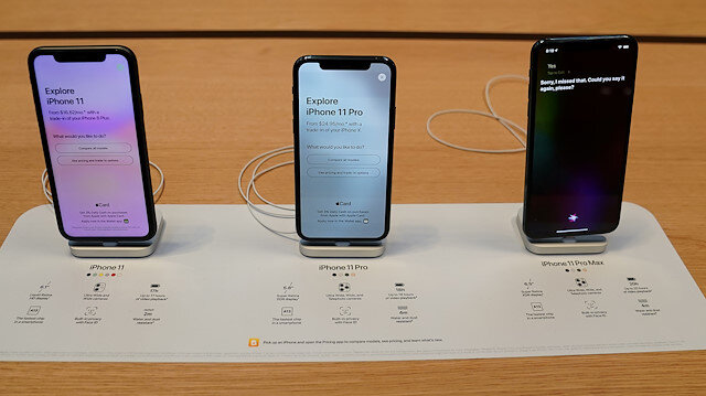 File photo: Apple iPhone 11's are pictured inside of the Apple Store on Fifth Ave in the Manhattan borough of New York, New York, U.S., September 20, 2019