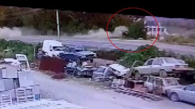 Liseli gencin hayatını kaybettiği kaza anı kamerada