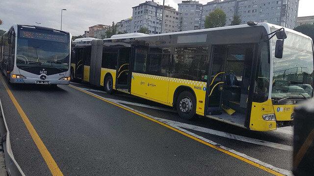 İstanbul'da metrobüs metrobüse arkadan çarptı: 3 kişi yaralandı