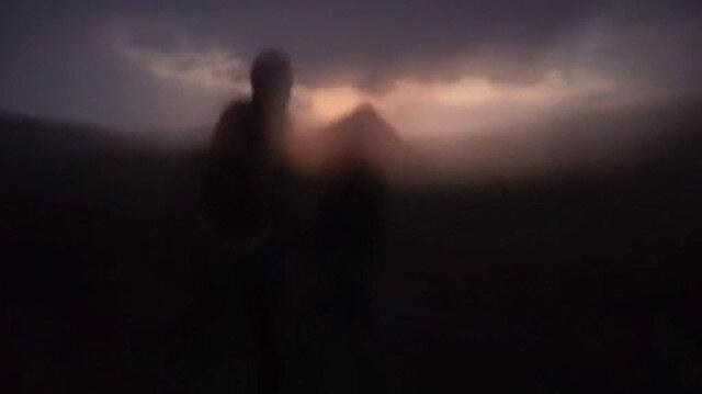 Bitliste korkutan görüntü: Hava bir anda karardı göz gözü görmedi