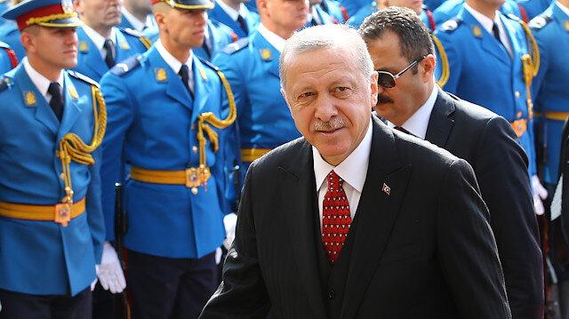 President of Turkey Recep Tayyip Erdogan in Serbia