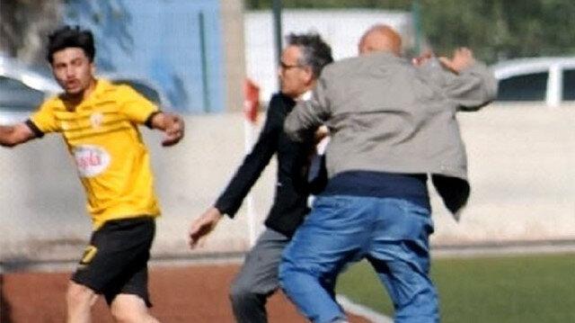 Amatör maçta olay: Kulüp başkanı futbolcusunu dövdü