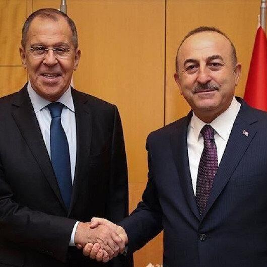 لافروف وتشاووش أوغلو يبحثان الأوضاع شمالي سوريا