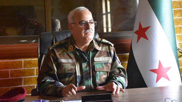 Syrian Interim Government's Minister of Defense and the Chief of Staff, Major General Salim Idris