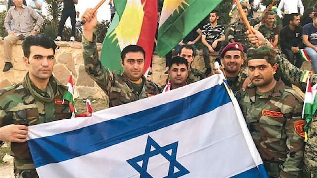 In 2017, Peshmerga forces were seen waving Israel's national flags in Erbil