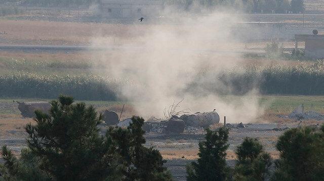 Barış Pınarı Harekatı: Tel Abyad'daki terör hedefleri obüs atışlarıyla vuruldu