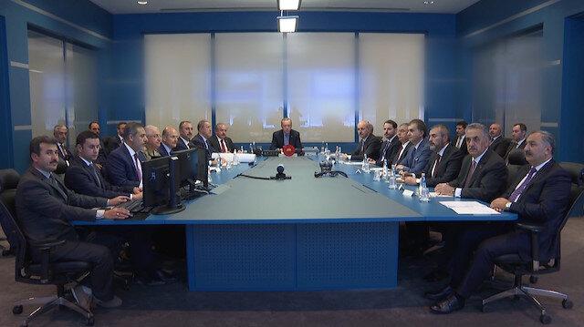 Barış Pınarı Harekatı Koordinasyon Toplantısından ilk görüntüler