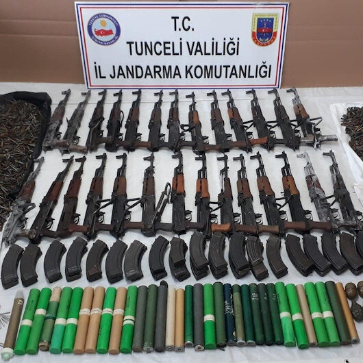 Tunceli Jandarma Komutanlığı operasyon düzenledi: Teröristlere ait 2 silah deposu ele geçirildi