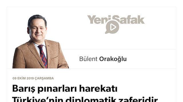 Barış pınarları harekatı Türkiye'nin diplomatik zaferidir