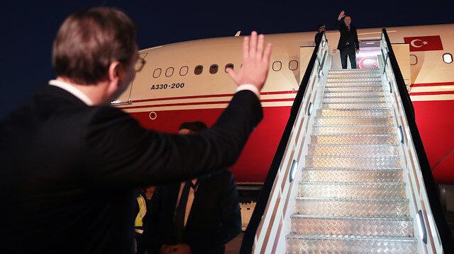 الرئيس أردوغان يختتم زيارته إلى صربيا