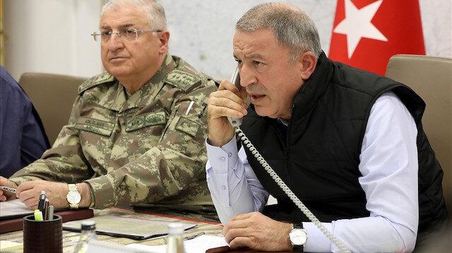 Hulusi Akar'dan harekat açıklaması: Mehmetçiğin morali çok yüksek