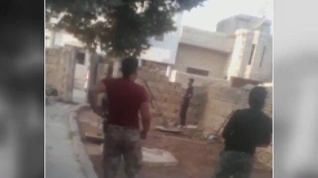 YPG/PKKlı teröristler evlerden saldırıyor