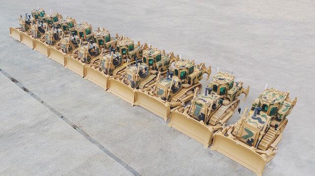 TSK'ya 50 ton ağırlığında zırhlı dozer
