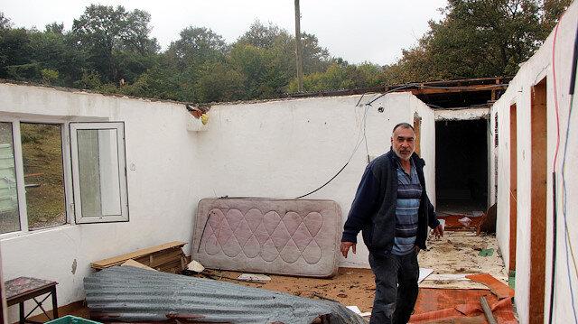 Bolu'daki hortumda 12 ev hasar gördü