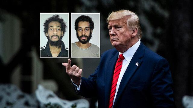 Trump ABD'nin kafa kesen İngiliz vatandaşı 2 DEAŞ militanını gözetimine aldığını açıkladı