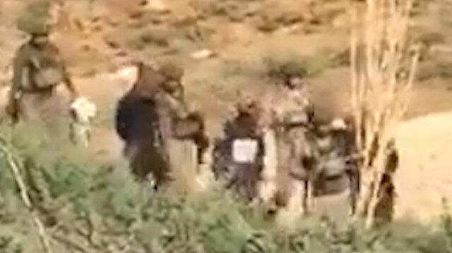 Resulayn'da 3 teröristin teslim olduğu anlar kamerada