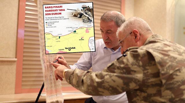Tel Abyad ve Rasul Ayn'ın çevresi terörden arındırıldı - [Barış Pınarı Harekatı Güncel Harita]