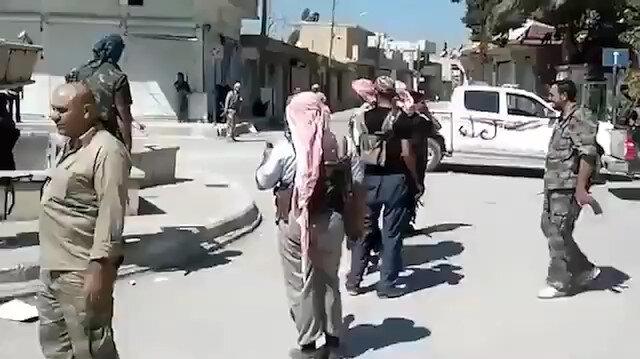 Suriye Milli Ordusu Tel Abyad merkezden görüntü yayımladı