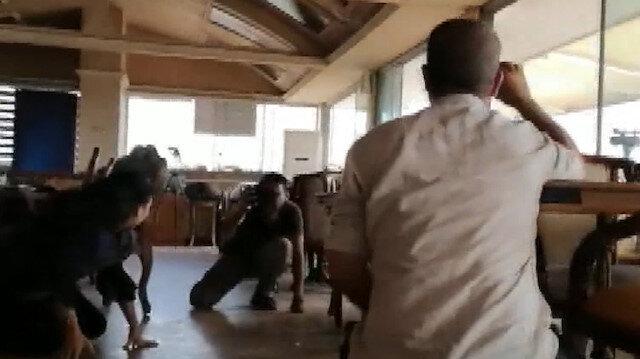 YPG/PKKlı teröristler gazetecileri hedef aldı: Yaşanan panik kamerada