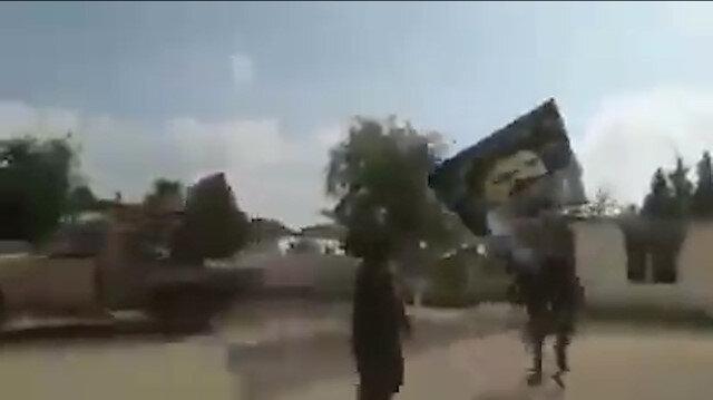 Tel Abyad'da bebek katili Apo'nun posteri yerlerde sürüklendi