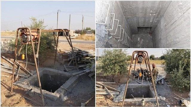 PYD'li teröristlerin Resul Ayn'daki vinçli tünelleri görüntülendi