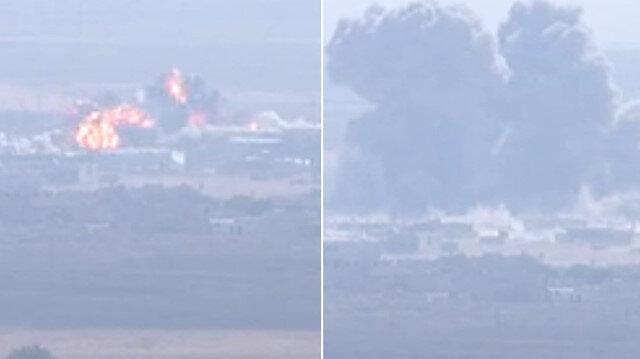 Rasulayn ve Tel Abyad'da terör hedefleri havadan ve karadan vuruluyor