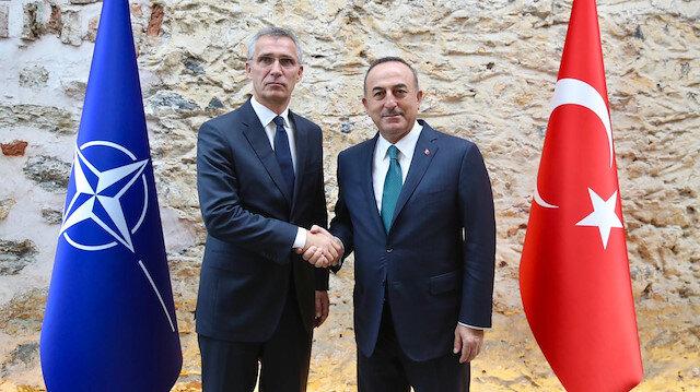 NATO Secretary General Jens Stoltenberg and Turikish Foreign Minister Mevlüt Çavuşoğlu