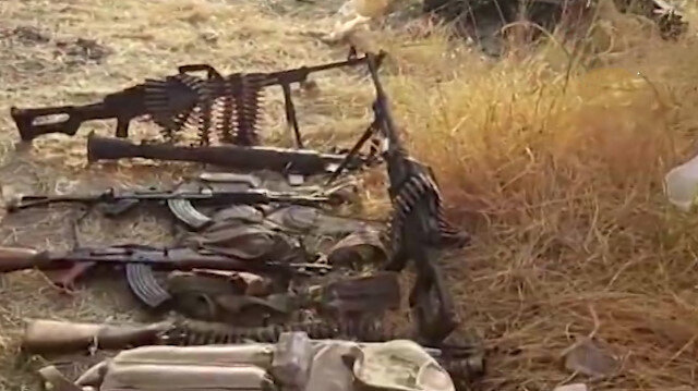 Operasyonda ele geçirilen mühimmatların videosu yayınlandı