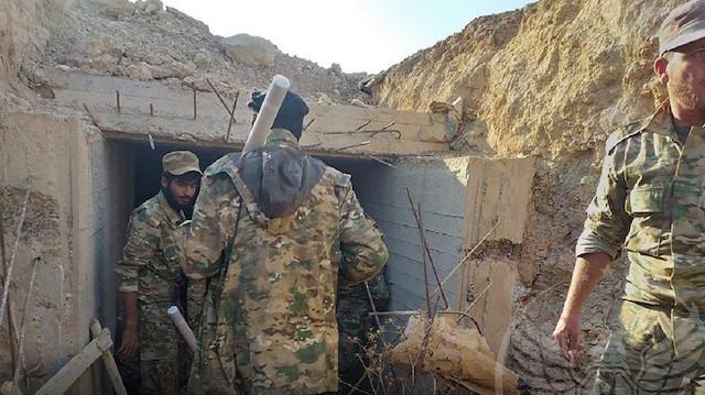 Suriye Milli Ordusu PYD'nin Resulayn'daki tünellerine girdi