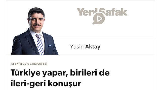 Türkiye yapar, birileri de ileri-geri konuşur