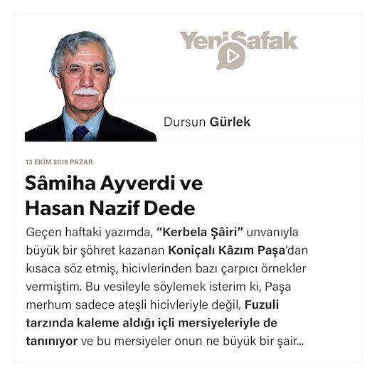 Sâmiha Ayverdi ve Hasan Nazif Dede