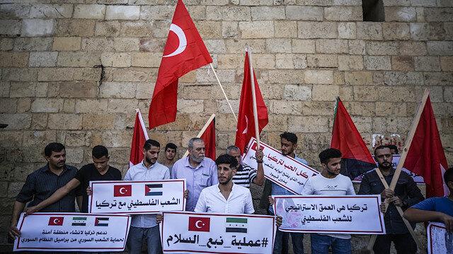 Filistinlilerden Barış Pınarı Harekatı'na destek