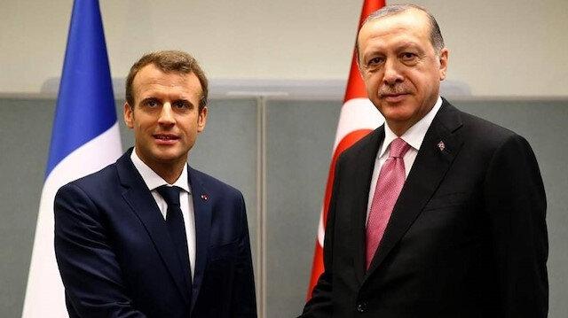 Cumhurbaşkanı Erdoğan Fransa Cumhurbaşkanı Macron ile görüştü