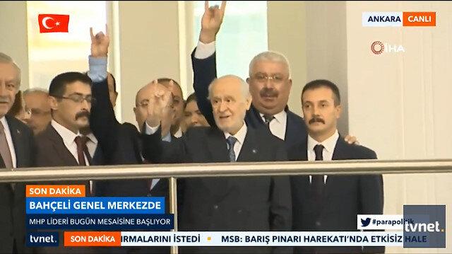 MHP Genel Başkanı Devlet Bahçeli yeniden mesaisine başladı