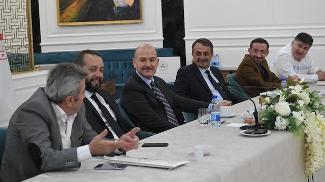 İçişleri Bakanı Süleyman Soylu Ankara'da Trabzonlu gazetecileri ağırladı