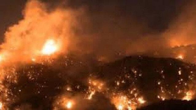 حرائق هائلة تجتاح لبنان و