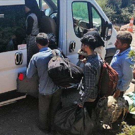 ضبط 19 مهاجرًا غير نظاميين شمال غربي تركيا