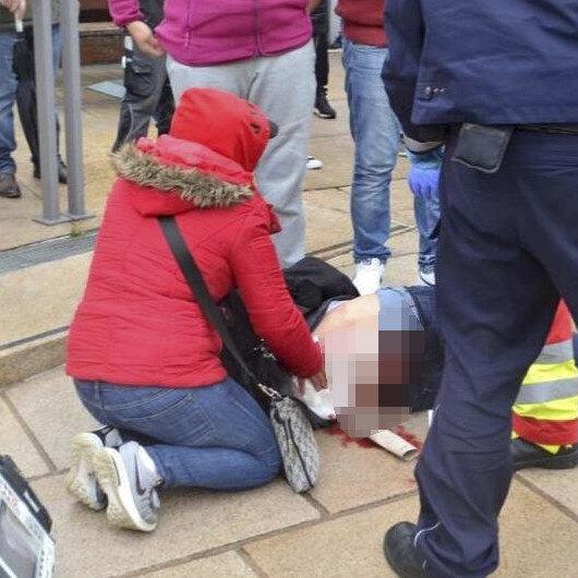 Almanya'da Barış Pınarı Harekatı'nı protesto etmek için toplanan PKK'lılar Türk kökenli bir kadını sırtından bıçakladı