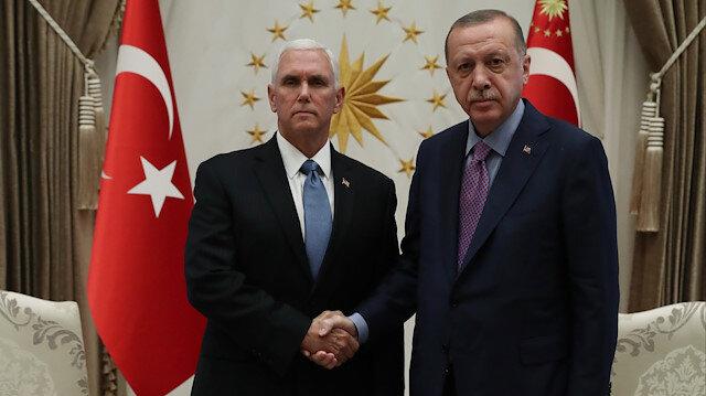 Cumhurbaşkanı  Erdoğan, ABD Başkan Yardımcısı Mike Pencei kabul etti