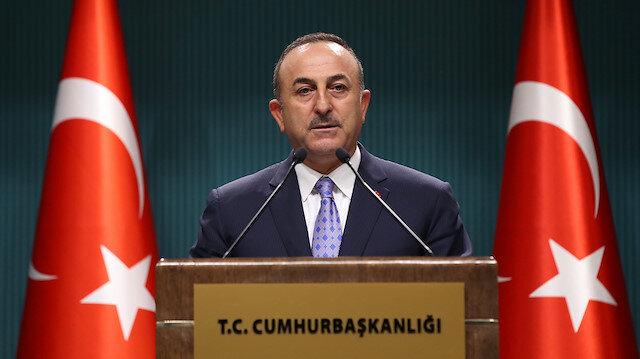 Dışişleri Bakanı Çavuşoğlu: Teröristlerin silahları toplanacak mevzileri yok edilecek