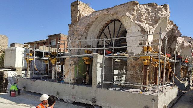 Hasankeyf'teki son eser El Rızık Cami: 1700 tonluk gövdesi taşınıyor