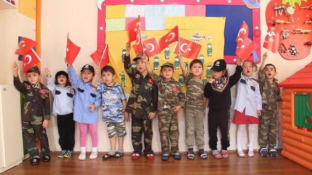 Minik öğrencilerden Barış Pınarı Harekatı'ndaki Mehmetçik'e duygulandıran destek