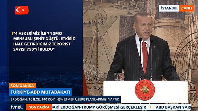 Cumhurbaşkanı Erdoğan: ABD sözünü tutmazsa operasyon kaldığı yerden devam eder