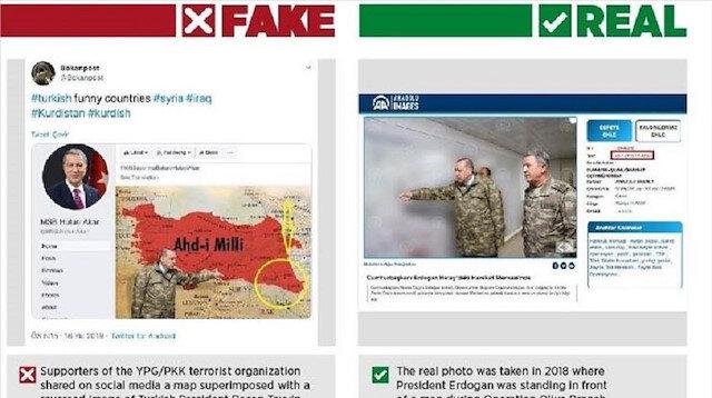 YPG/PKK use fake photos to smear Turkey's op in Syria