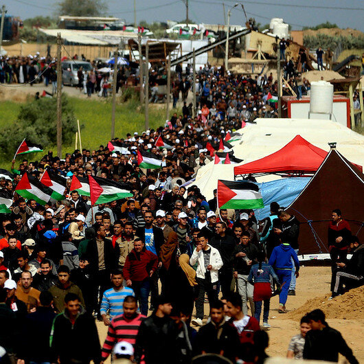 Palestinians in Gaza protest for 79th Friday