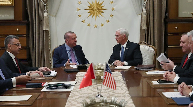 File photo: President Recep Tayyip Erdoğann - Mike Pence meeting
