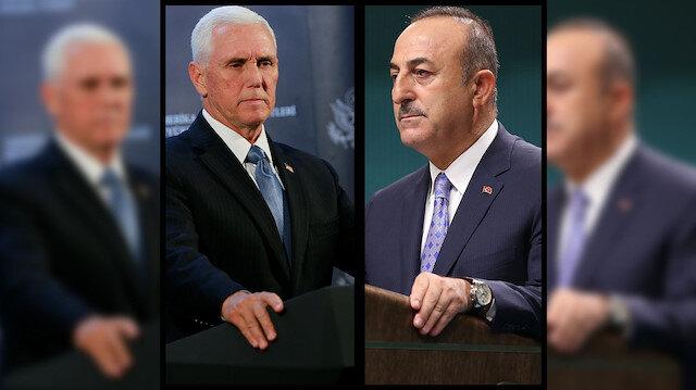 Çavuşoğlu, Pence'in açıklamalarının gerçeği yansıtmadığını ifade etti: Ayn El Arab sözü vermedik!
