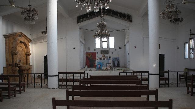 Terör örgütü YPG/PKK Ermeni kilisesini karargah olarak kullandı